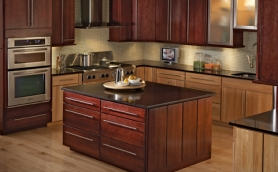 Calibra Plantation Bordeaux Honey Cabinets