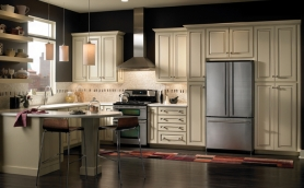 Armstrong Leighton Van Cream Pewter Cabinets