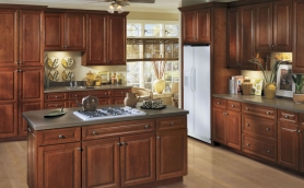 Armstrong Lacerise Cordovan Cabinets