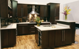 Armstrong Moderno Espresso Cabinets