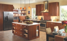 Armstrong Moderno Mocha Cabinets