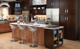 Armstrong Moderno Toffee and Espresso Cabinets