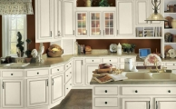 Touraine Linen Ebony Glaze Kitchen